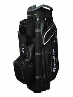 New Taylormade 20 Premium Cart Bag Black / Grey / White H2513 - Image 1