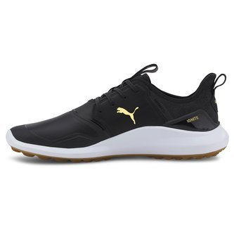 Puma IGNITE NXT Crafted Golf Shoes - Black/Black/Gold - Image 1