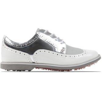 G/Fore Women's Brogue Gallivanter Golf Shoes - Snow/Sharkskin - Image 1