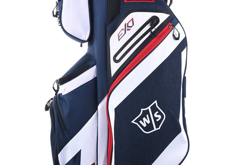New Wilson Staff Exo Cart Bag Red / White / Blue H3332 - Image 1