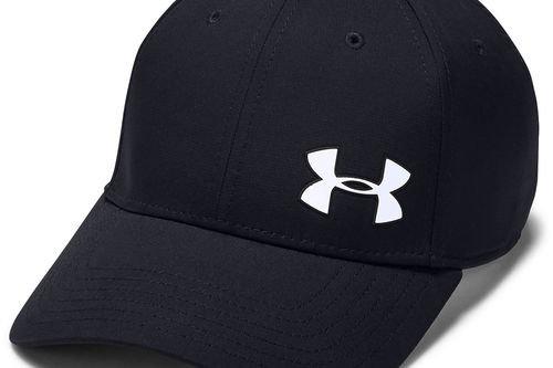 Under Armour Mens Black Long Lasting Logo Print Headline 3.0 Golf Cap - Image 1