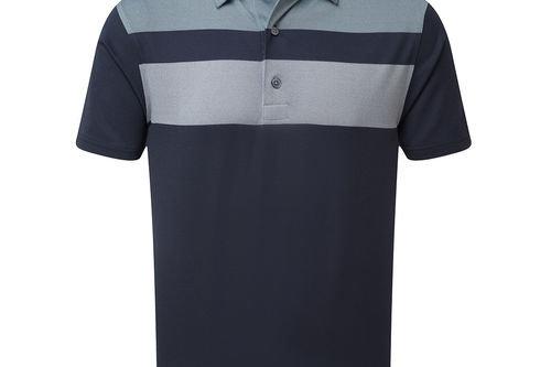FootJoy Double Block Birdseye Pique Golf Polo Shirt - Image 1