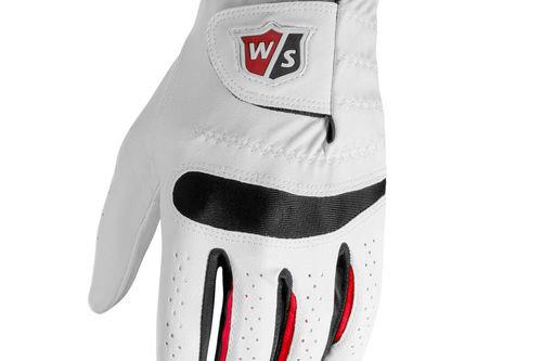 Wilson Staff Mens Black and White ProFeel Golf Glove - Image 1