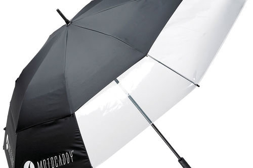 Motocaddy Mens Black Clearview Umbrella - Image 1
