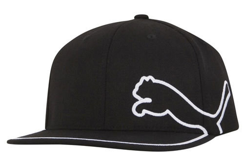 PUMA Golf Mens Black Stylish Embroidered Monoline 110 Golf Snapback Cap - Image 1