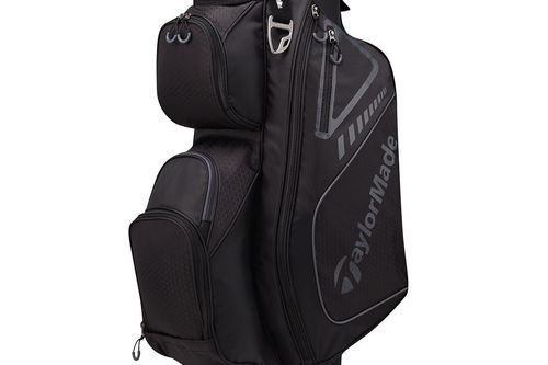 TaylorMade Mens Black and Charcoal Grey Lightweight Select Plus Golf Cart Bag - Image 1