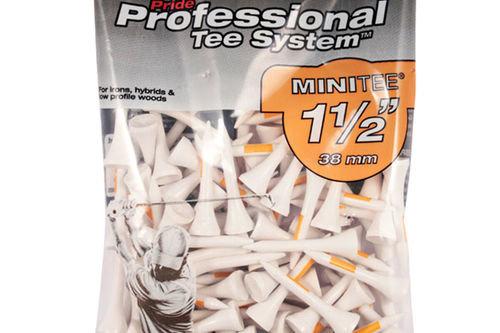 Pride Orange Professional Pack of 25 Mini Golf Tees - Image 1