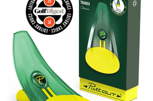 PuttOUT Yellow and Green Pressure Golf Putt Trainer  | American Golf - Image 1