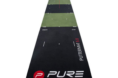 Pure 2 Improve Black and Green Long Lasting 5.0 Putting Golf Mat - Image 1