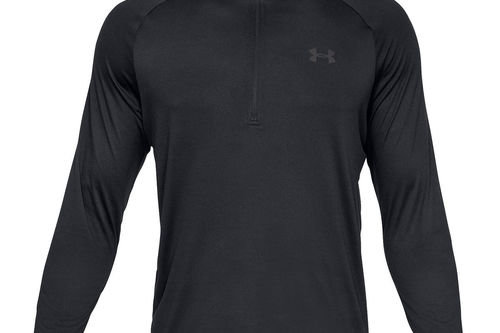 Under Armour Mens Black Comfortable Tech 2.0 1/2 Zip Golf Midlayer - Image 1