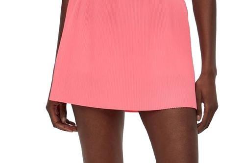 J.Lindeberg Women's Saga Pleated Golf Skirt - Tropical Coral - Image 1