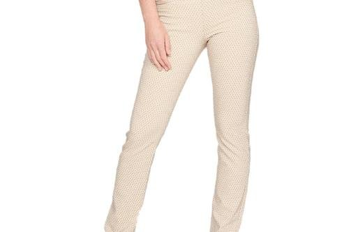 Rohnisch Women's Smooth Golf Pants - Beige/White Check - Image 1