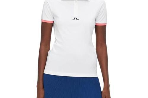 J.Lindeberg Women's Minna Golf Polo - White - Image 1