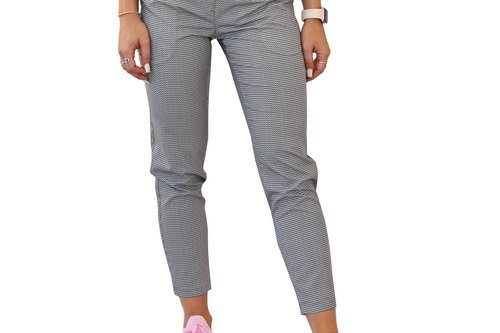 Cross Women's Style Light Chinos - Pebble Grey Dot - Image 1