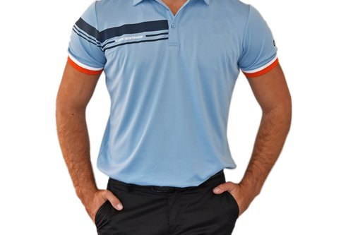 Cross Club Polo Golf Shirt - Forever Blue - Image 1